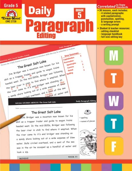 Daily Paragraph Editing Grade 5 from Evan-Moor