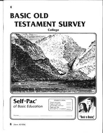Old Testament Survey 4 from Accelerated Christian Education