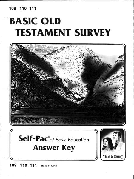 Old Testament Survey Key 1-5 from Accelerated Christian Education