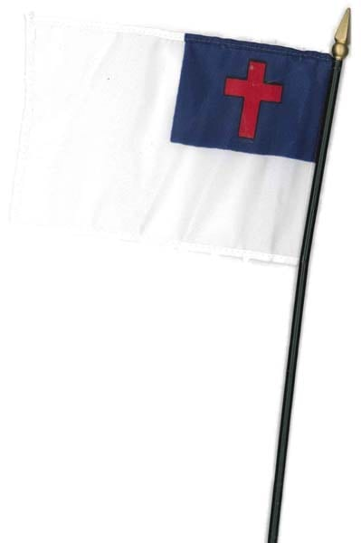 "4"" x 6"" Christian Flag from Accelerated Christian Education"