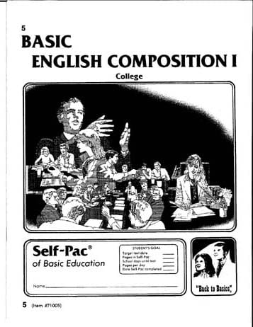 English Composition I Unit 2 from Accelerated Christian Education