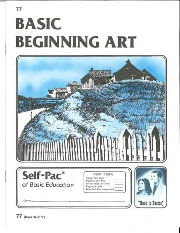Beginning Art Unit 7 (Pace 79) from Accelerated Christian Education