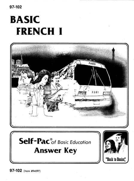 French I Key 1103-1108