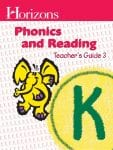 Horizons Kindergarten Phonics & Reading Teacher's Guide 3 from Alpha Omega Publications