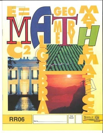 Reading Readiness Math Pace 12 from Accelerated Christian Education