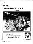 College Math Key 1-5 from Accelerated Christian Education