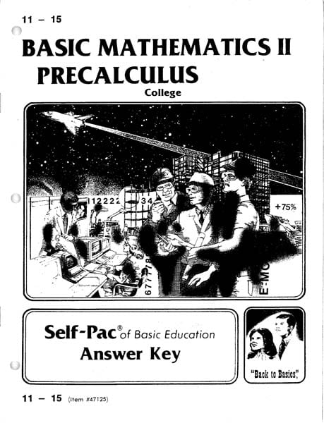 Precalculus Solution Key 16-20