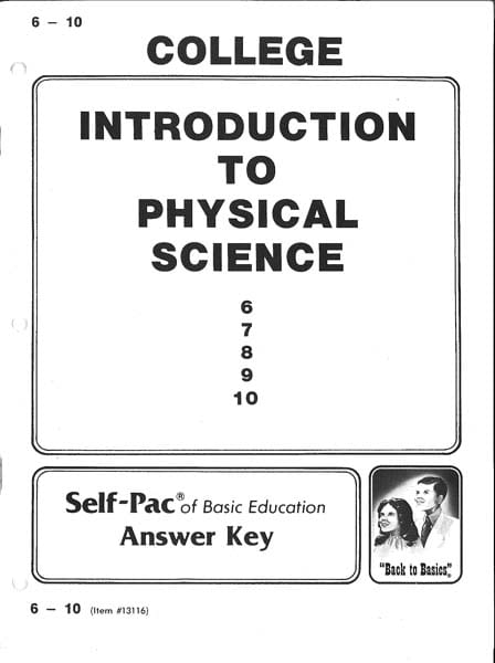 Physical Science Answer Key 1-5