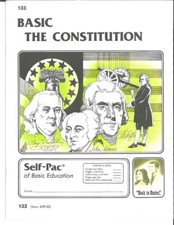 Constitution Unit 3 (Pace 135) (High School) from Accelerated Christian Education