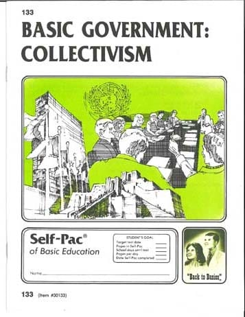 Collectivism Unit 6 (Pace 138) (High School) from Accelerated Christian Education