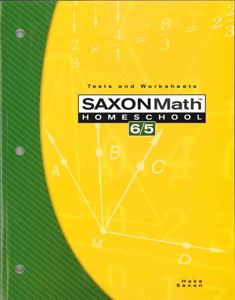 Math 6/5 Homeschool Testing Book from Saxon Math