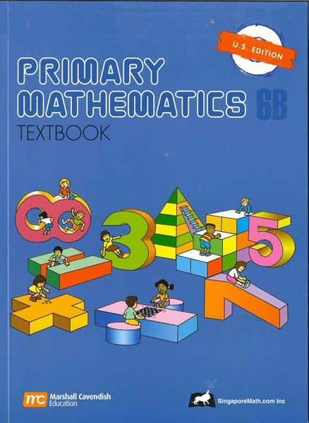 Primary Math Textbook 6B US Edition by Singapore Math