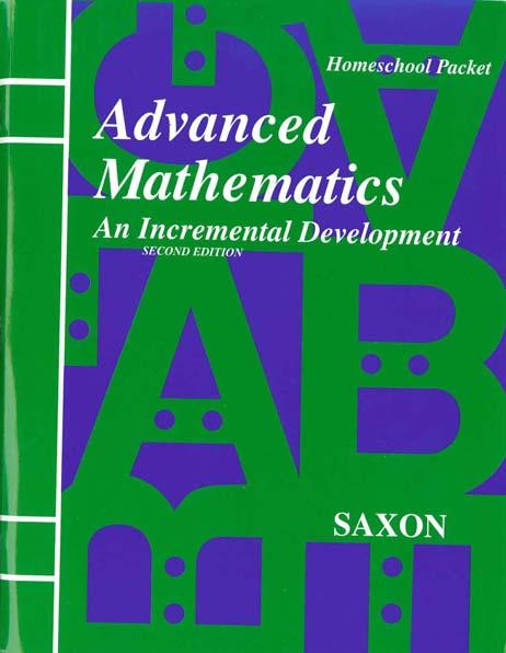 Advanced Mathematics Homeschool Packet w/Test Forms from Saxon Math