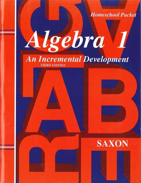Algebra 1 Homeschool Third Edition Extra Tests from Saxon Math
