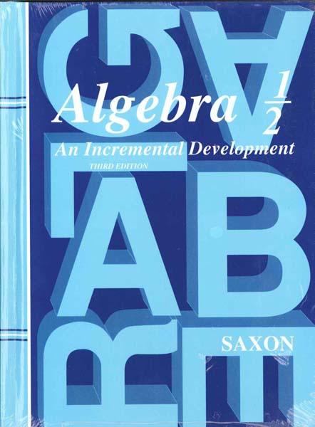 Algebra 1/2 Homeschool Kit w/Solutions Manual Third Edition from Saxon Math