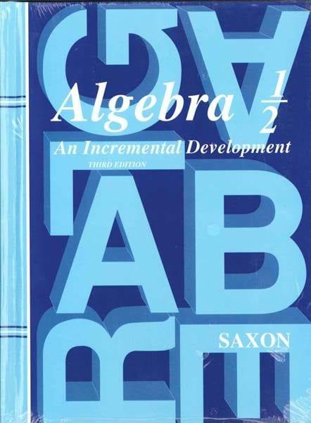 Algebra 1/2 Homeschool Kit Third Edition from Saxon Math