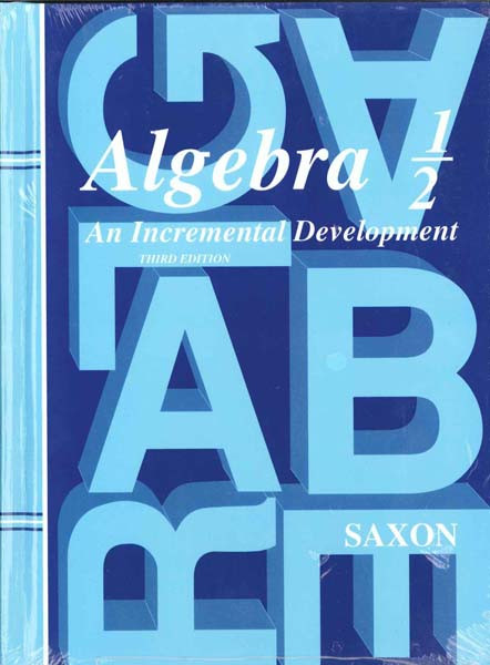Algebra 1/2 Homeschool Kit Third Edition from Saxon Math