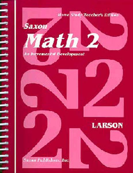 Math 2 Homeschool First Edition Teacher's Manual from Saxon Math
