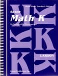 Math K Homeschool Teacher's Manual 1st Edition from Saxon Math