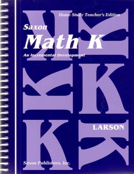 Math K Homeschool Teacher's Manual 1st Edition from Saxon Math