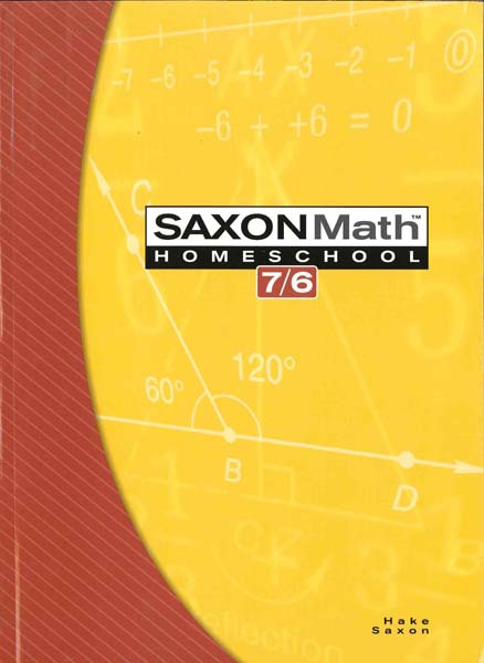 Math 7/6 Homeschool Student Edition 4th Edition from Saxon Math