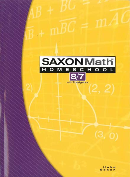 Math 8/7 Homeschool Student Edition 3rd Edition from Saxon Math