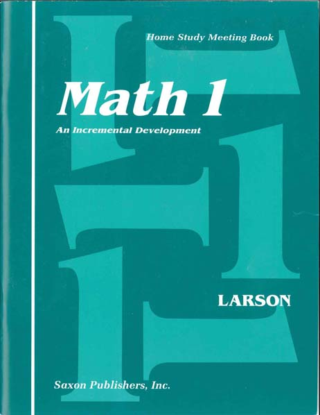 Math 1 Homeschool Student's Meeting Book First Edition from Saxon Math