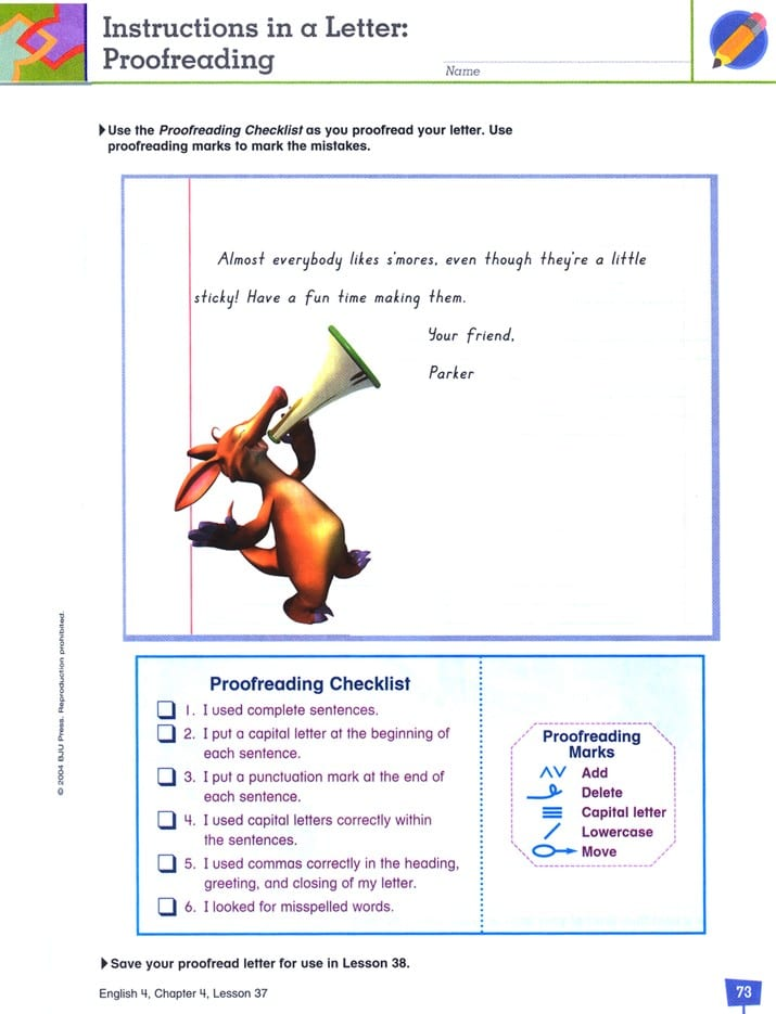 4th Grade English Textbook Kit by BJU Press