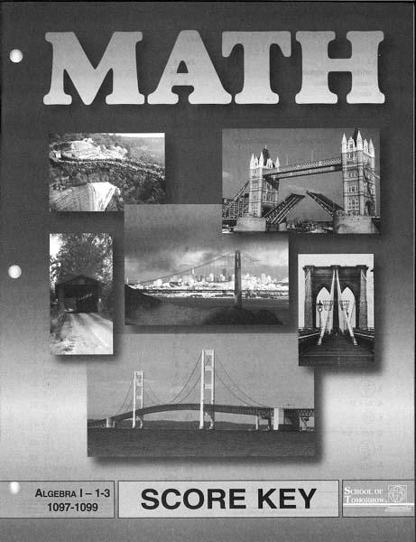 Algebra I Key 1103-1105 from Accelerated Christian Education