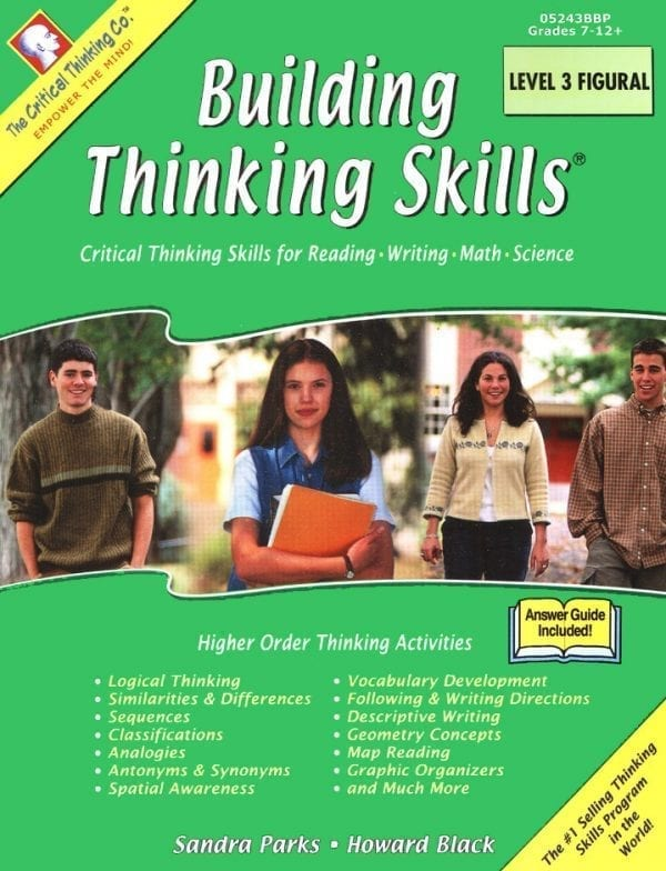Building Thinking Skills: Level 3 Figural, Grades 7-12+, from The Critical Thinking Company