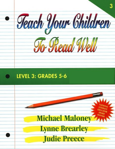 Level 3: Grades 5-6 Instructor's Manual from Teach Your Children To Read Well Press