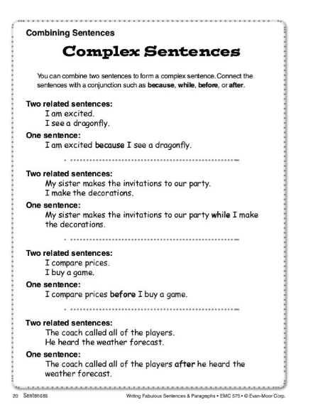 Writing Fabulous Sentences & Paragraphs by Evan-Moor