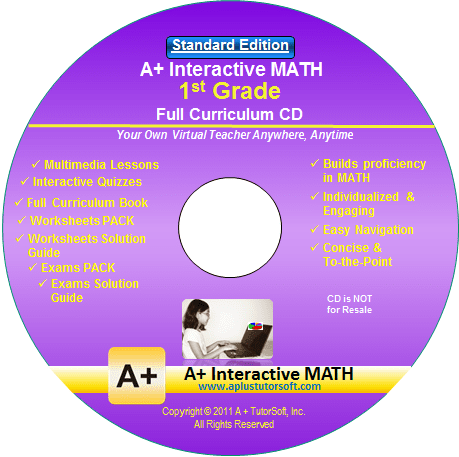 1st Grade Math Full Curriculum Standard Edition CD-ROM by A+