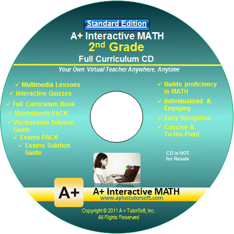 2nd Grade Math Full Curriculum Standard Edition CD-ROM from A+ Interactive