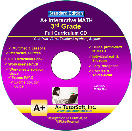 3rd Grade Math Full Curriculum Standard Edition CD-ROM from A+ Interactive