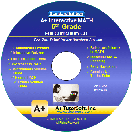 5th Grade Math Full Curriculum Standard Edition CD from A+ Interactive