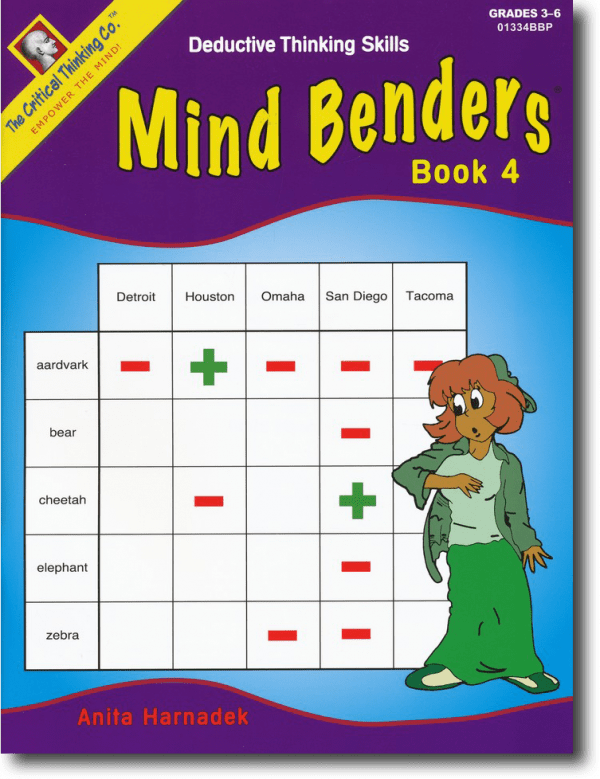 Mind Benders Level 4, Grades 3-6, from The Critical Thinking Company
