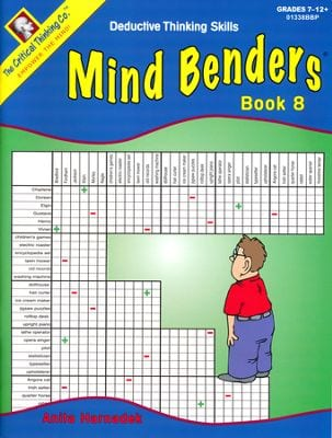 Mind Benders Level 8, Grades 7-12+, from The Critical Thinking Company