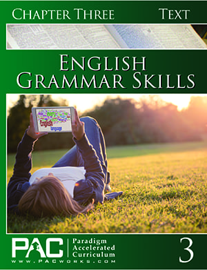 English Grammar Skills Chapter 3 Text from Paradigm Accelerated Curriculum
