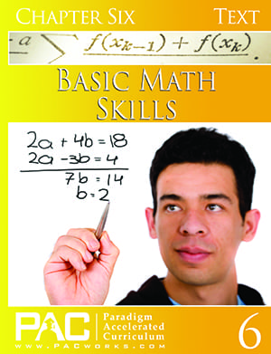 Basic Math Skills Chapter 6 Text from Paradigm Accelerated Curriculum