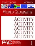 World Geography Chapter 1 Activities from Paradigm Accelerated Curriculum