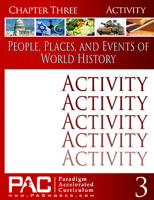 World History Chapter 3 Activities from Paradigm Accelerated Curriculum