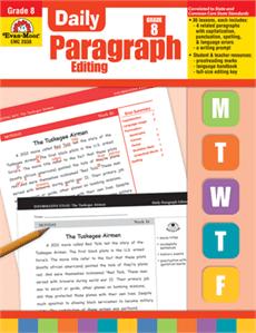 Daily Paragraph Editing Grade 8 from Evan-Moor