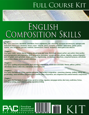 English II: Composition Skills from Paradigm Accelerated Curriculum
