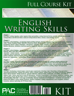English III: Writing Skills Kit from Paradigm Accelerated Curriculum