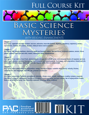 Basic Science Mysteries Kit from Paradigm Accelerated Curriculum