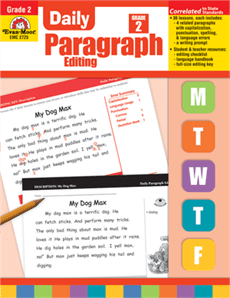 Daily Paragraph Editing Grade 2 from Evan-Moor