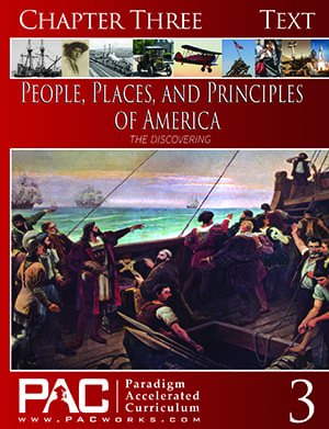 The Discovering of America (Chapter 3 Text) from Paradigm Accelerated Curriculum