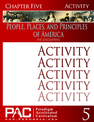 The Designing of America (Chapter 5 Activities) from Paradigm Accelerated Curriculum
