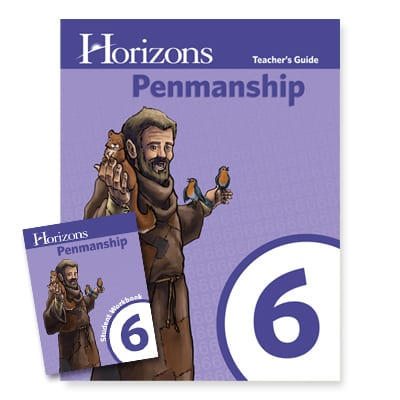 Horizons 6th Grade Penmanship Set from Alpha Omega Publications